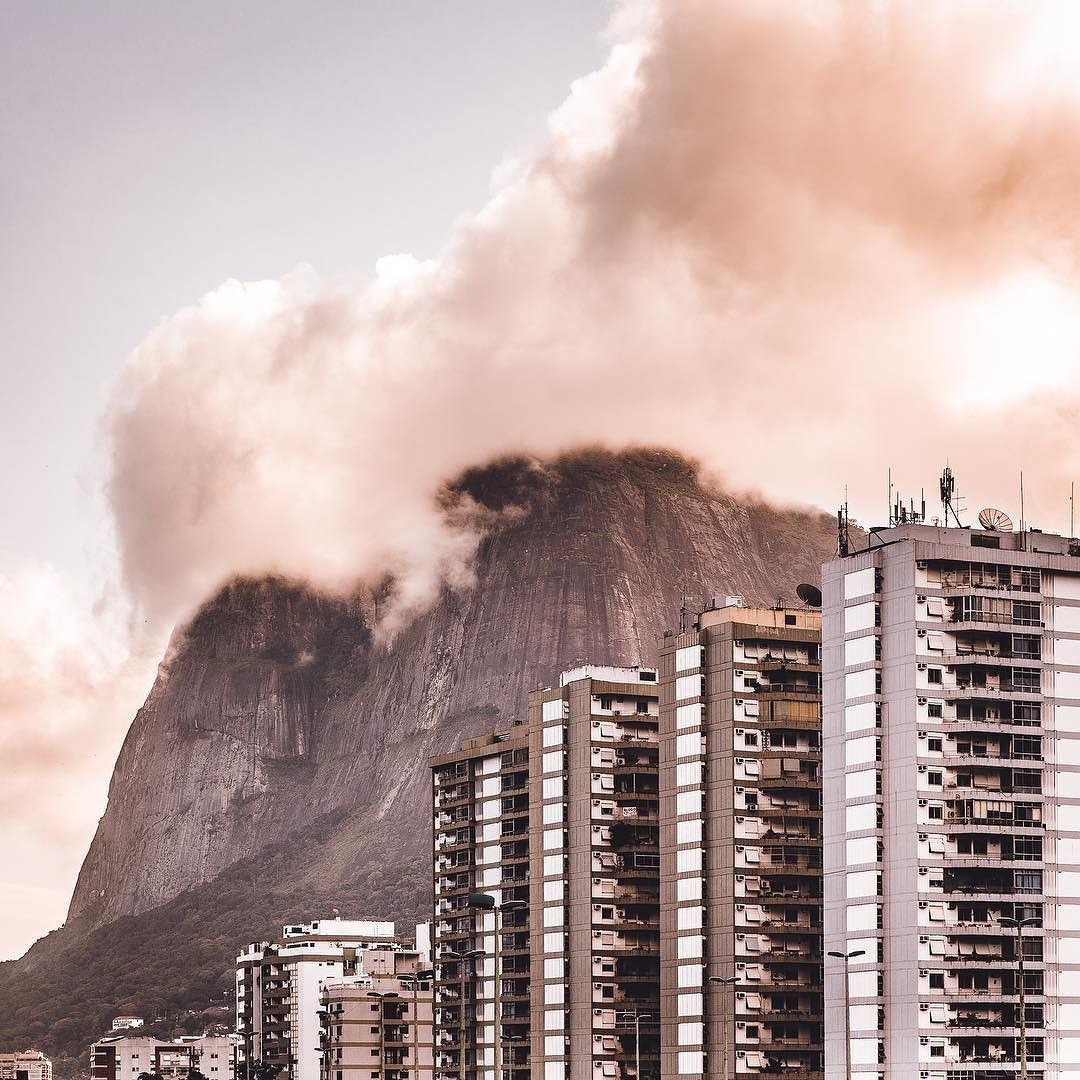 "#hbweekends featuring @nikk_la: ""Fog covering the mountain of Dois Irmaos Mountain known as the twin brothers. Hiking up this mountain gives you a panorama view of Rio De Janeiro."" by hypebeast"