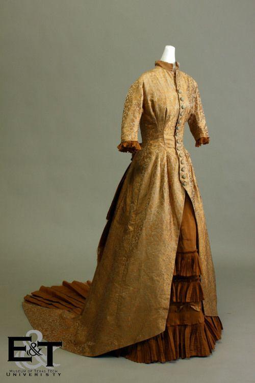 Gold Brocade Tunic over a Gold Taffeta Skirt, 1875
