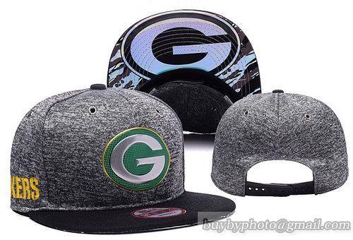 NFL Green Bay Packers 2016 Draft Charcoal Gray Snapback Hats a34bd0fb779