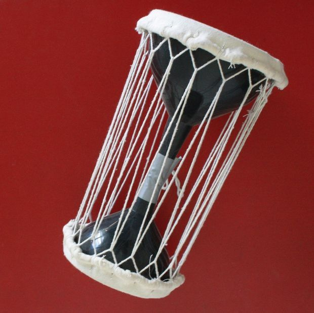 make a talking drum out of funnels pictures of drums and pictures. Black Bedroom Furniture Sets. Home Design Ideas
