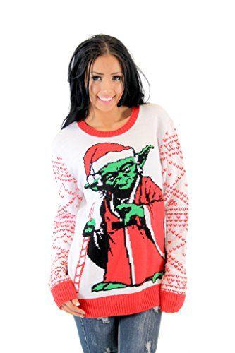 8fc004e00502 Yoda Santa Star Wars Christmas Sweater for Women