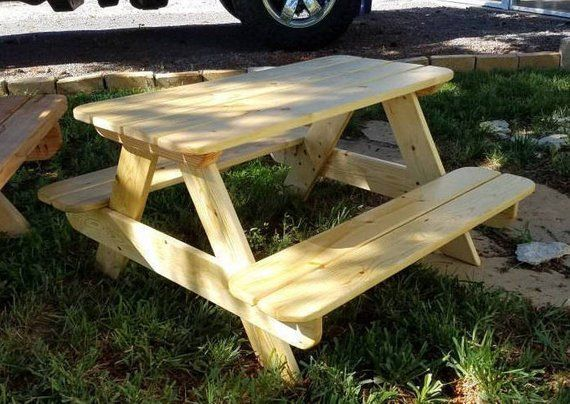 31 Kids Toddler Size Small Picnic Table Plan Step By Video Guide Childrens Outdoor Patio Fur