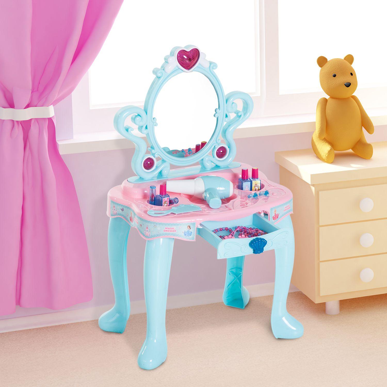 Kids Pretend Play Vanity Table Dressing Makeup Accessories