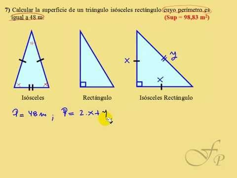 Triangulo Isosceles Rectangulo Dado El Perimetro Hallar Su Area