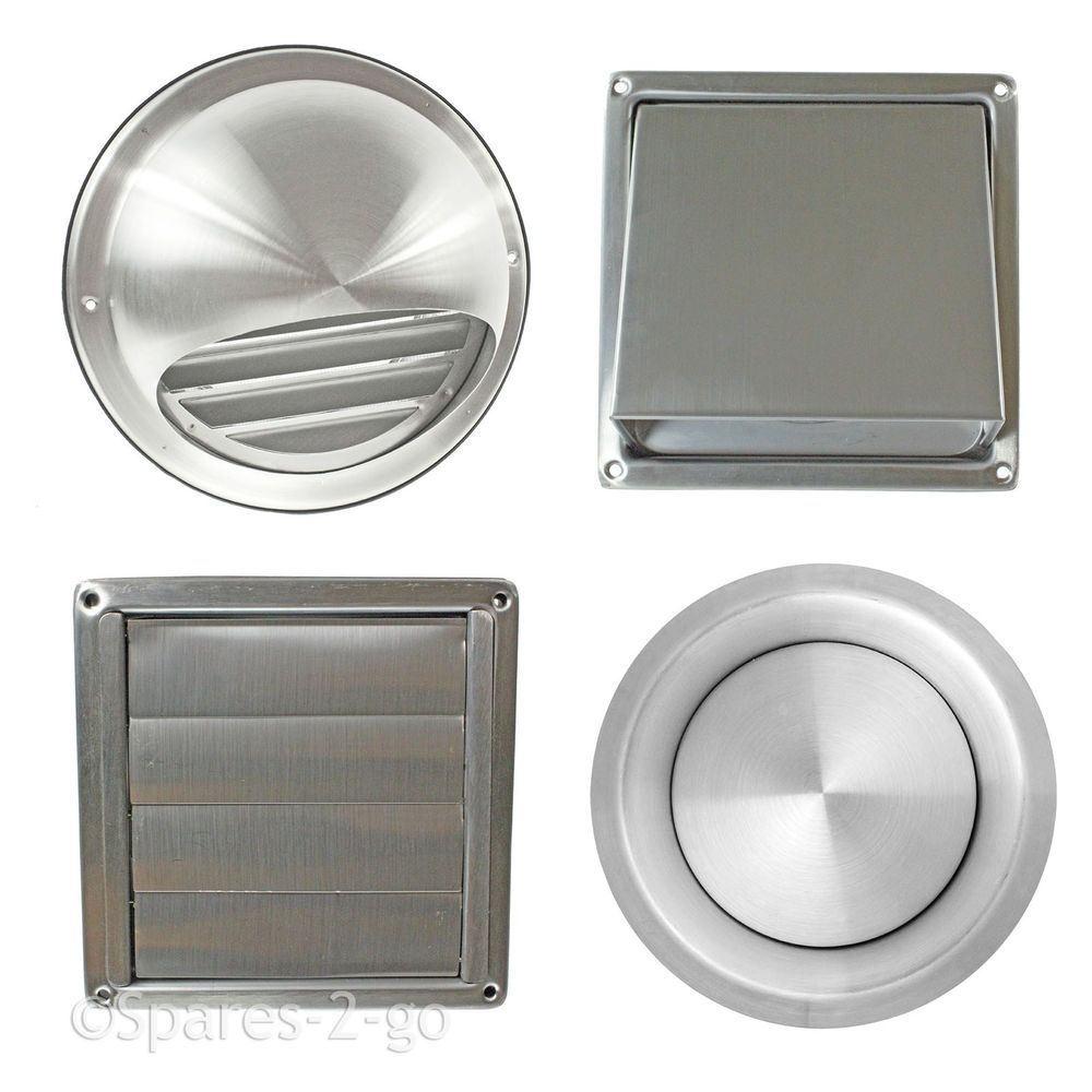 Stainless Steel Bathroom Extractor Fan Cover