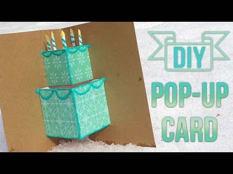 How To Make A Simple Pop Up Birthday Card Youtube Paper And More