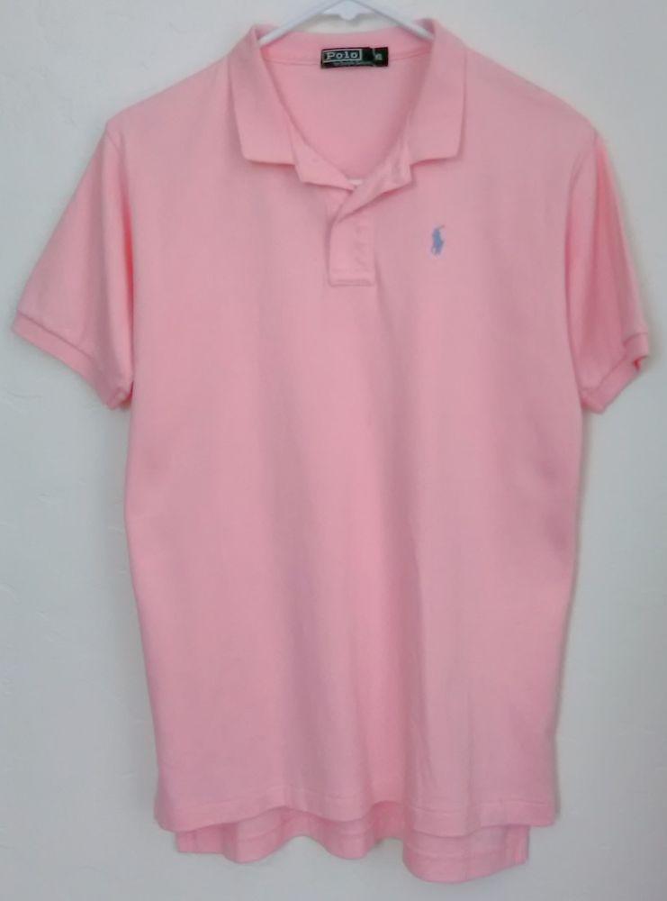 12b49c8ae316 Polo Ralph Lauren Men s Medium Fit Interlock Polo Shirt HAMPT PINK XL   PoloRalphLauren  PoloRugby