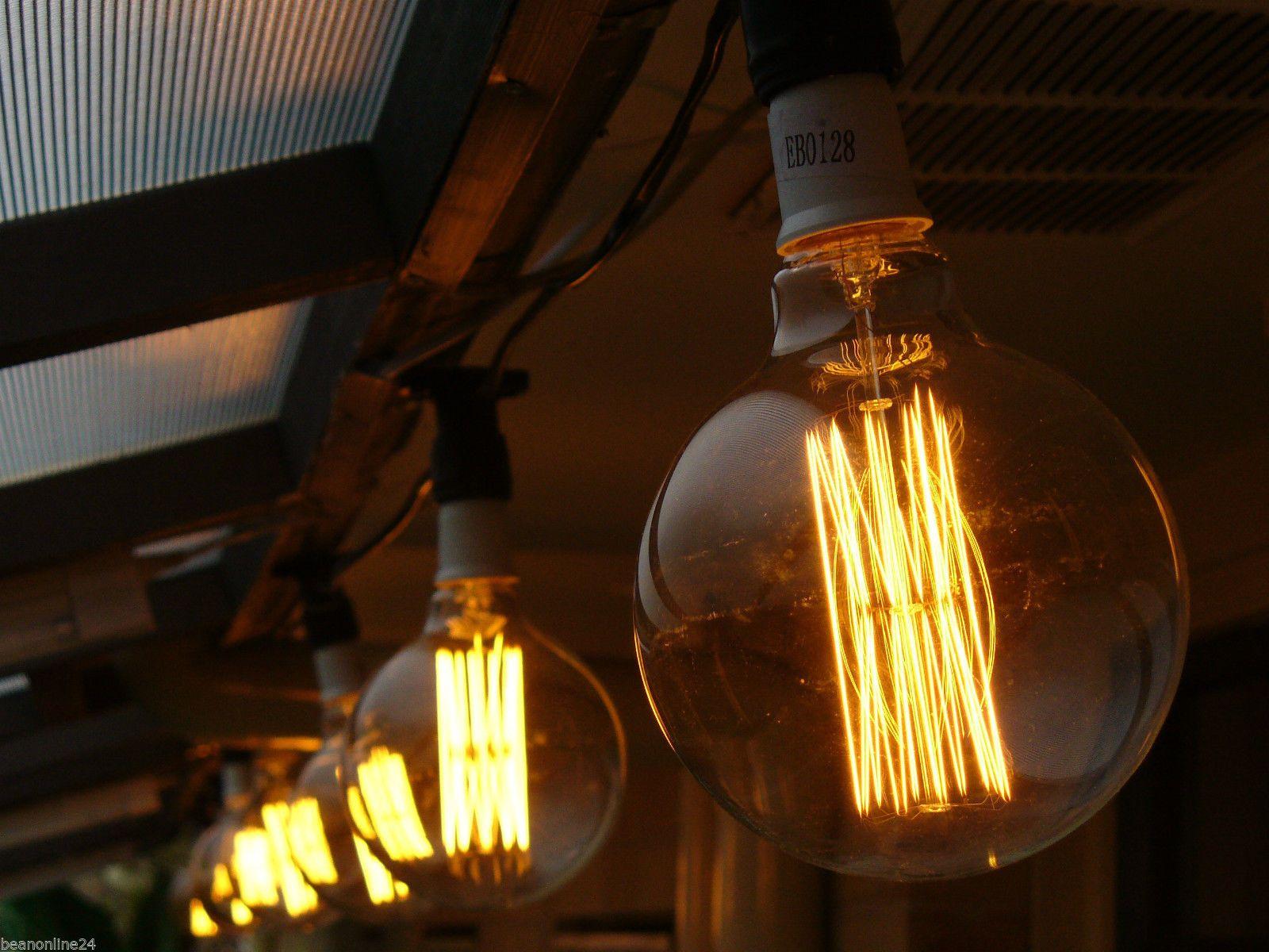10 Piece Vintage Edison Festoon Party String Light KIT Globes Included | eBay