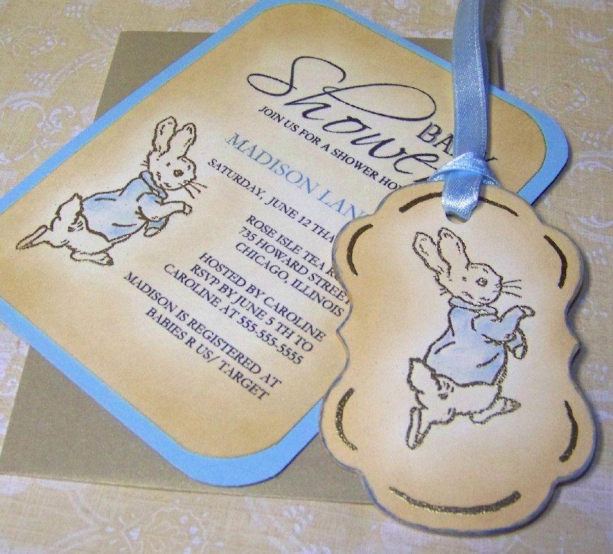 Beatrix Potter Baby Shower Invitations by WritingsByBluebirds ...