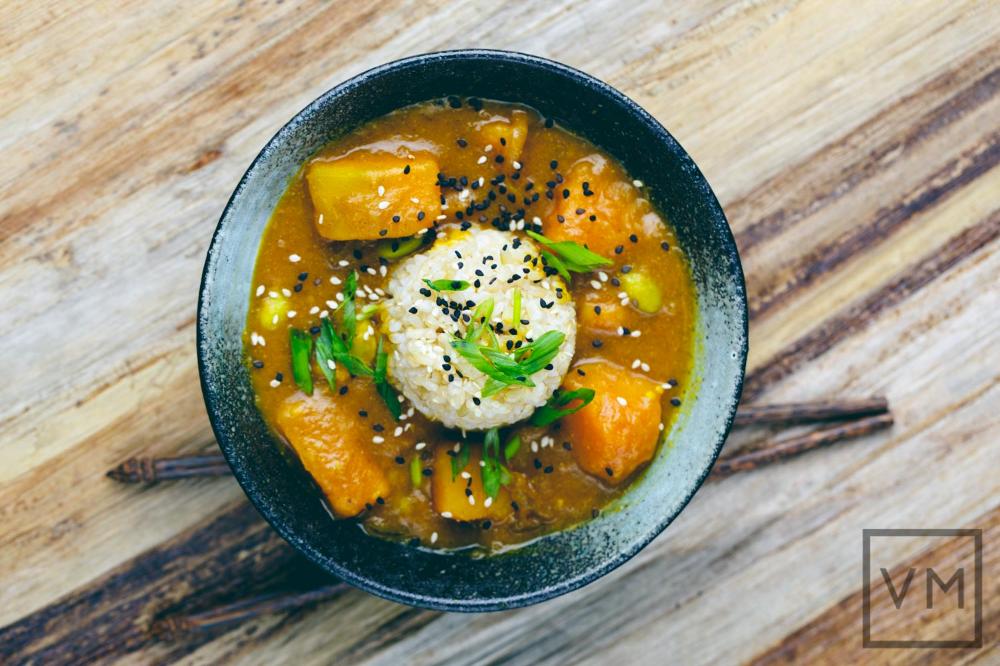 Vegan Japanese Kabocha Curry Vegan Miam Curry Recipes Vegan Japanese Japanese Dishes