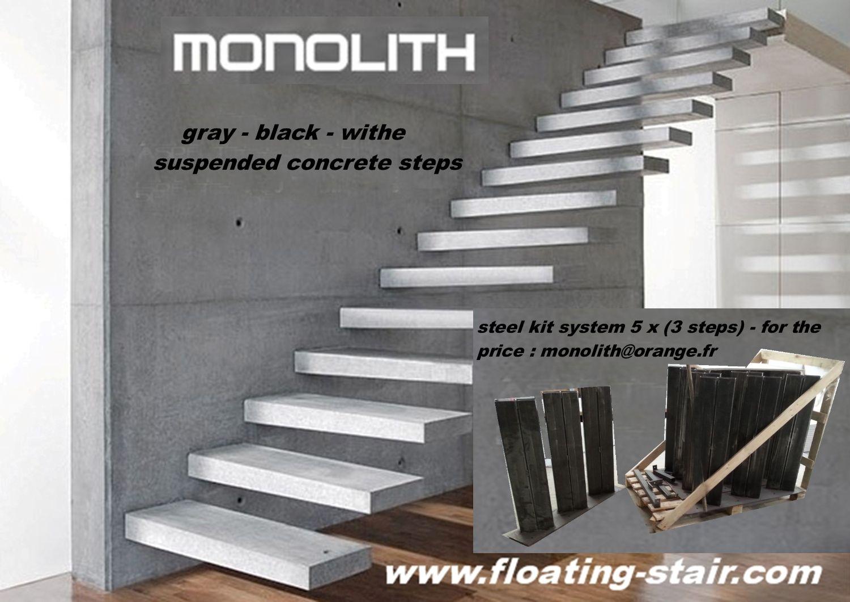 escalier suspendu escalier flottant quart tournant escalier suspendu en kit kit marches. Black Bedroom Furniture Sets. Home Design Ideas