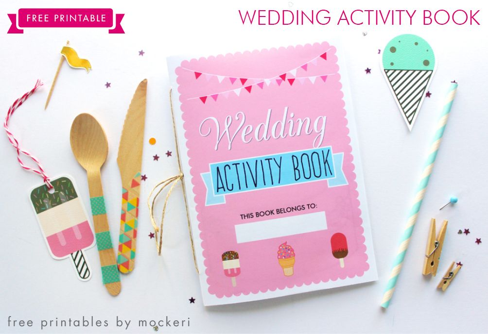 free printable wedding activity book for kids - Printable Books For Kids