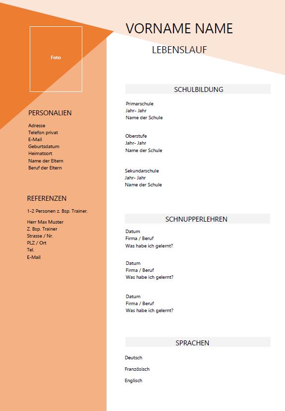 Lebenslauf Lehrstelle Vorlage Lebenslauf Schulbildung Lebenslauf Vorlage Schweiz Lehrstelle Word Ch Vorlagen Gemerkt Fuer Eine Muster Muster Vo In 2020