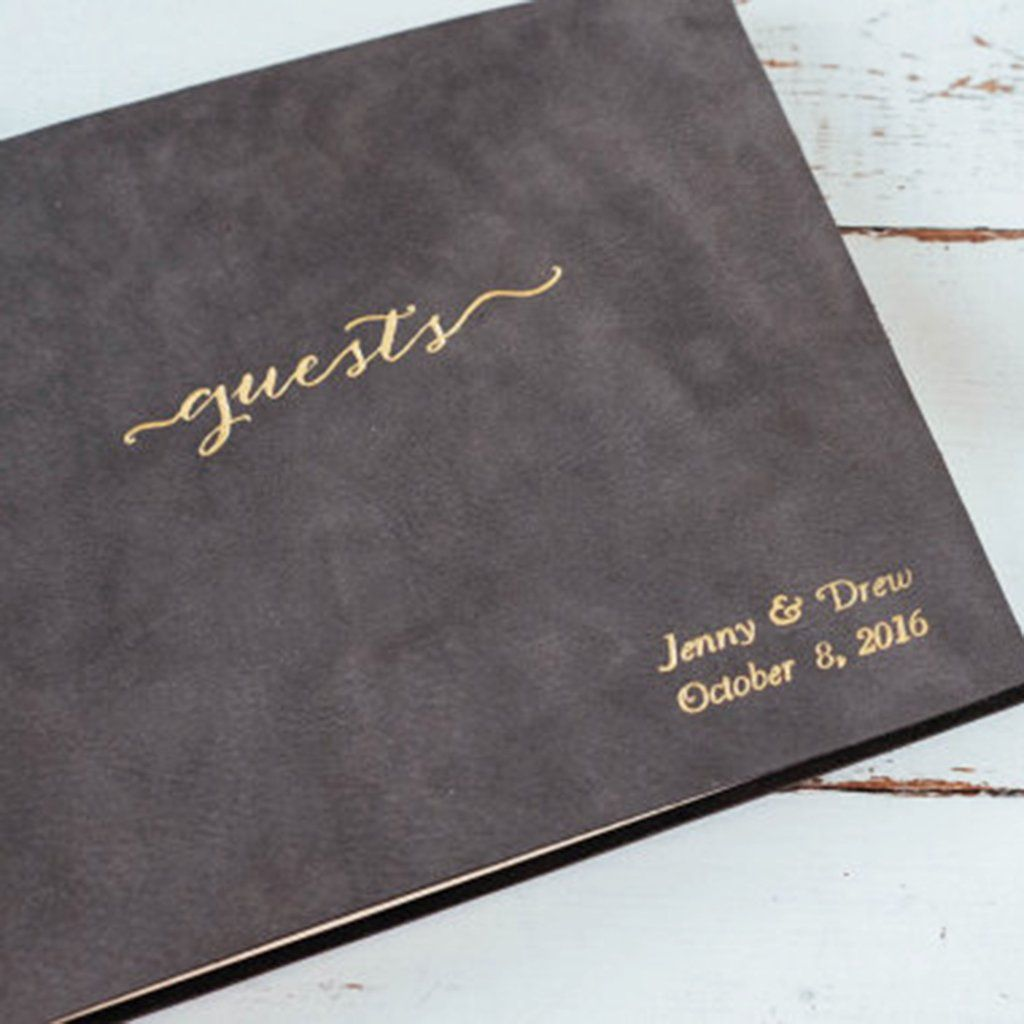Leather Wedding Guest Book Or Photo Al