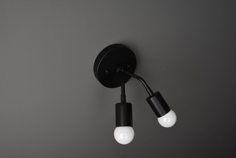 Modern Wall Light - Bathroom Vanity Light - Matte Black ...