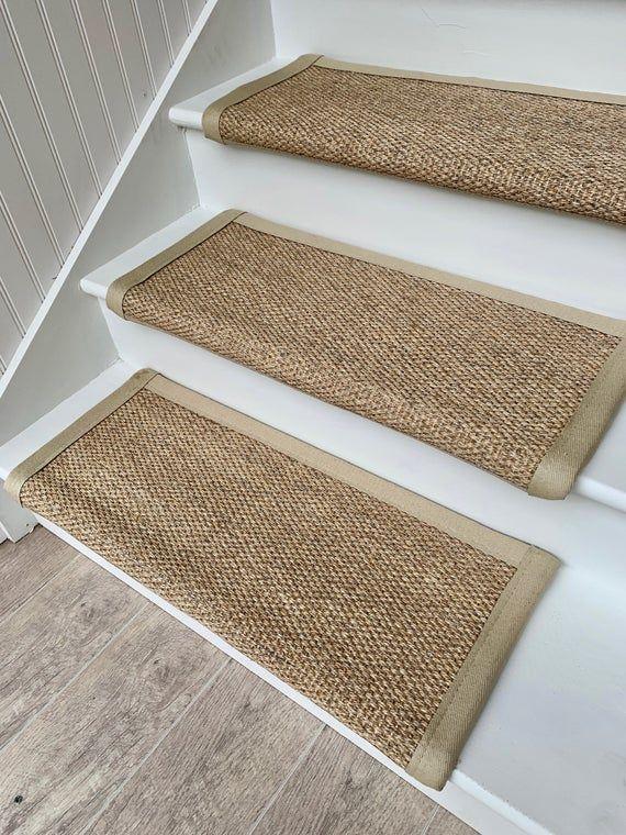 Sisal Carpet Stair Treads Mountain Ash Etsy In 2020 Carpet | Wool Carpet Stair Treads | Flooring | Zealand Wool | Beige Carpet | Cat Pet | Hardwood Stairs