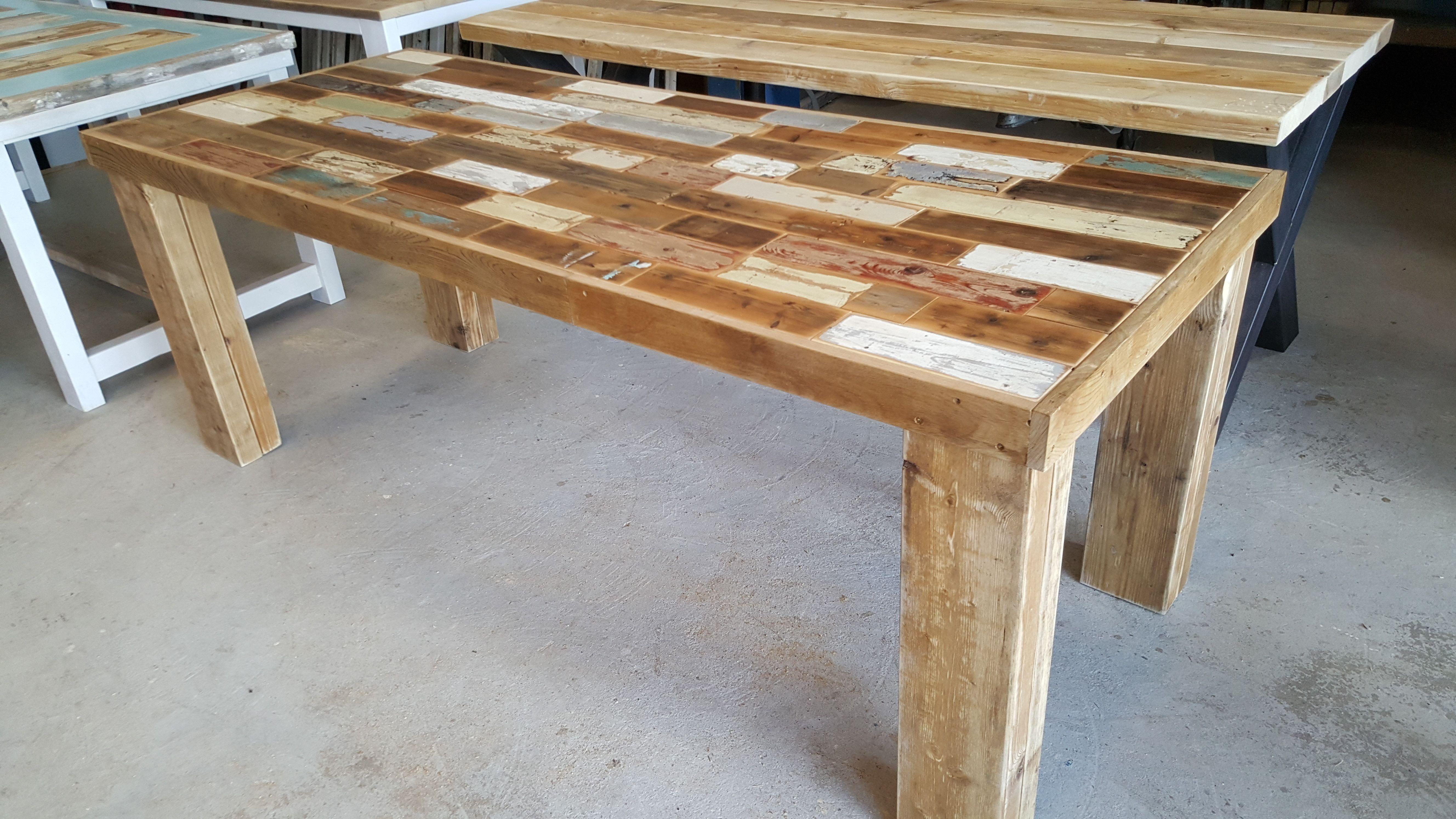 Eettafel hout op maat eettafels staal hout