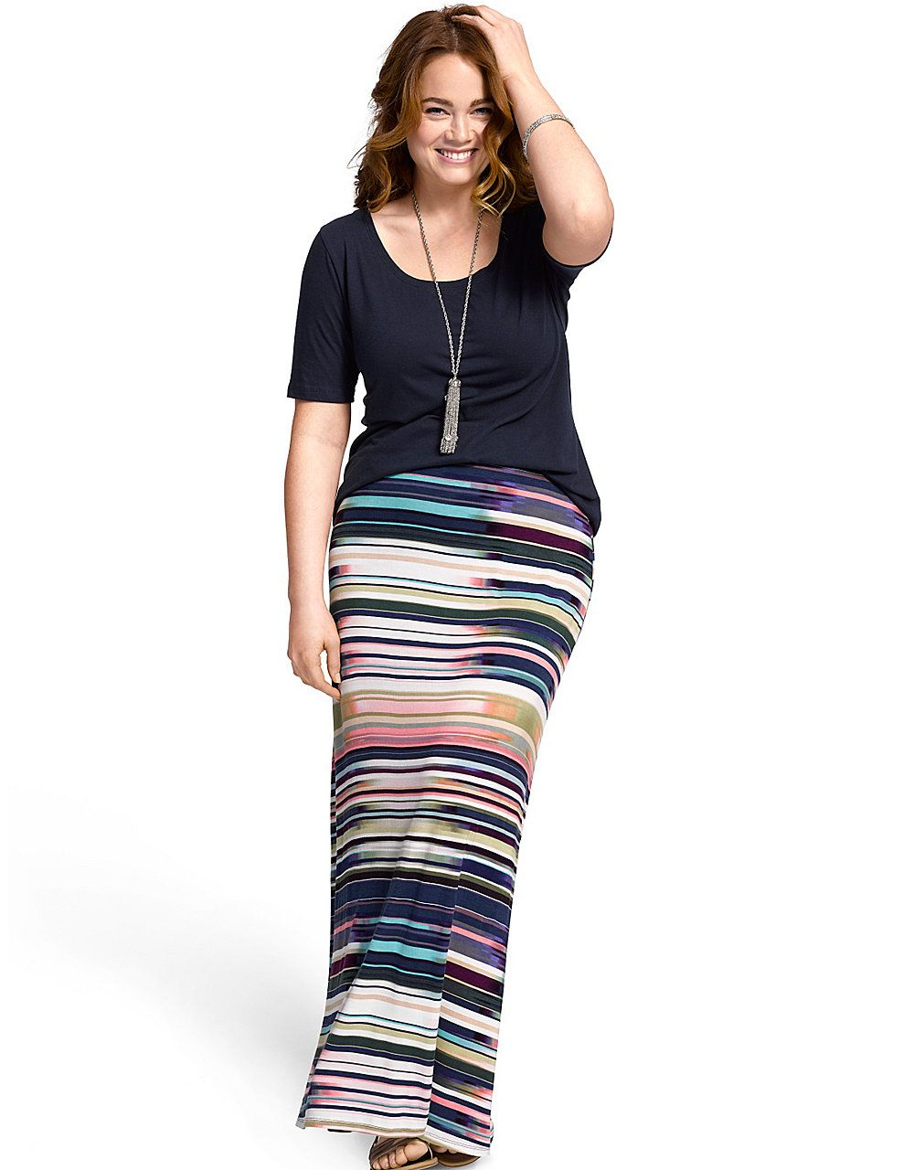 031329fbeb1 Striped maxi skirt by Lane Bryant