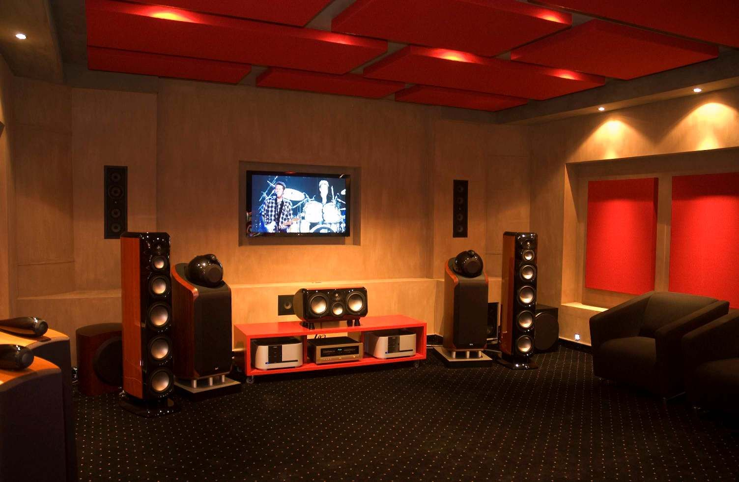 Movie Theater Living Room Ideas Romantic Lighting Idea Black Home  Sound System