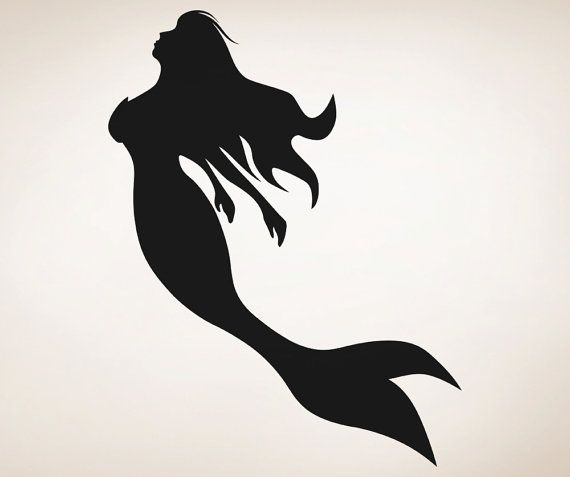 Vinyl Wall Decal Sticker Mermaid Silhouette by Stickerbrand