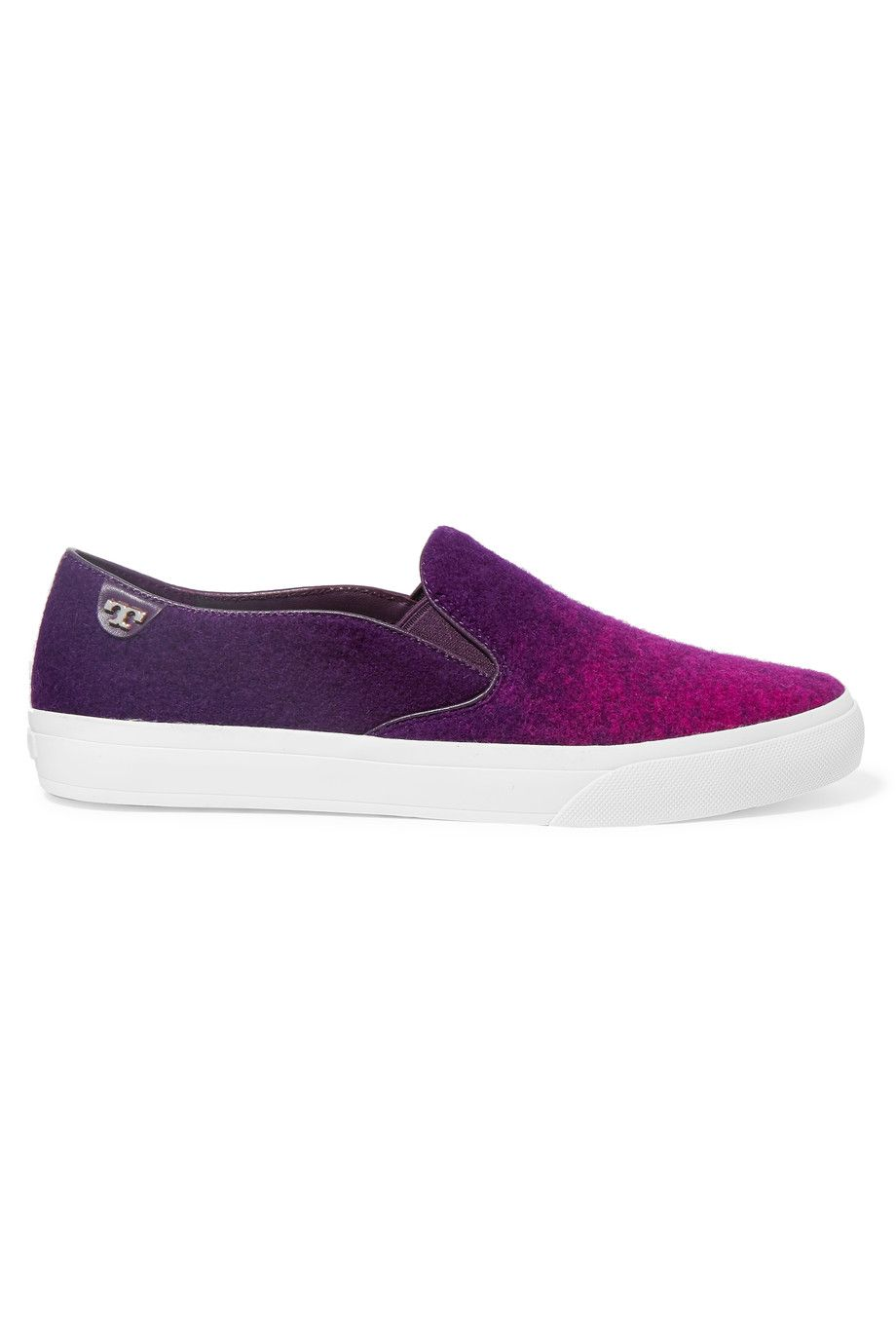 TORY BURCH Stardust Ombré Felt Slip-On Sneakers. #toryburch #shoes #sneakers