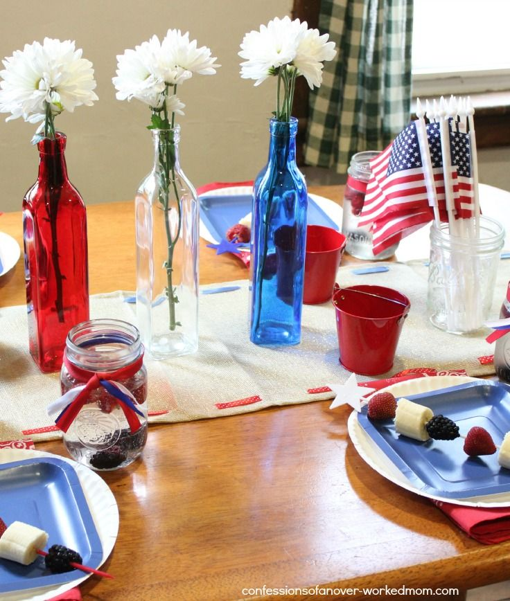 Patriotic Table Setting Ideas Red White And Blue Decorating For The 4th Of July