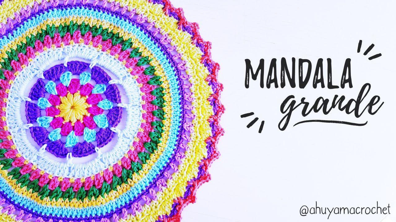 da473db85960 Como tejer un MANDALA GRANDE a crochet
