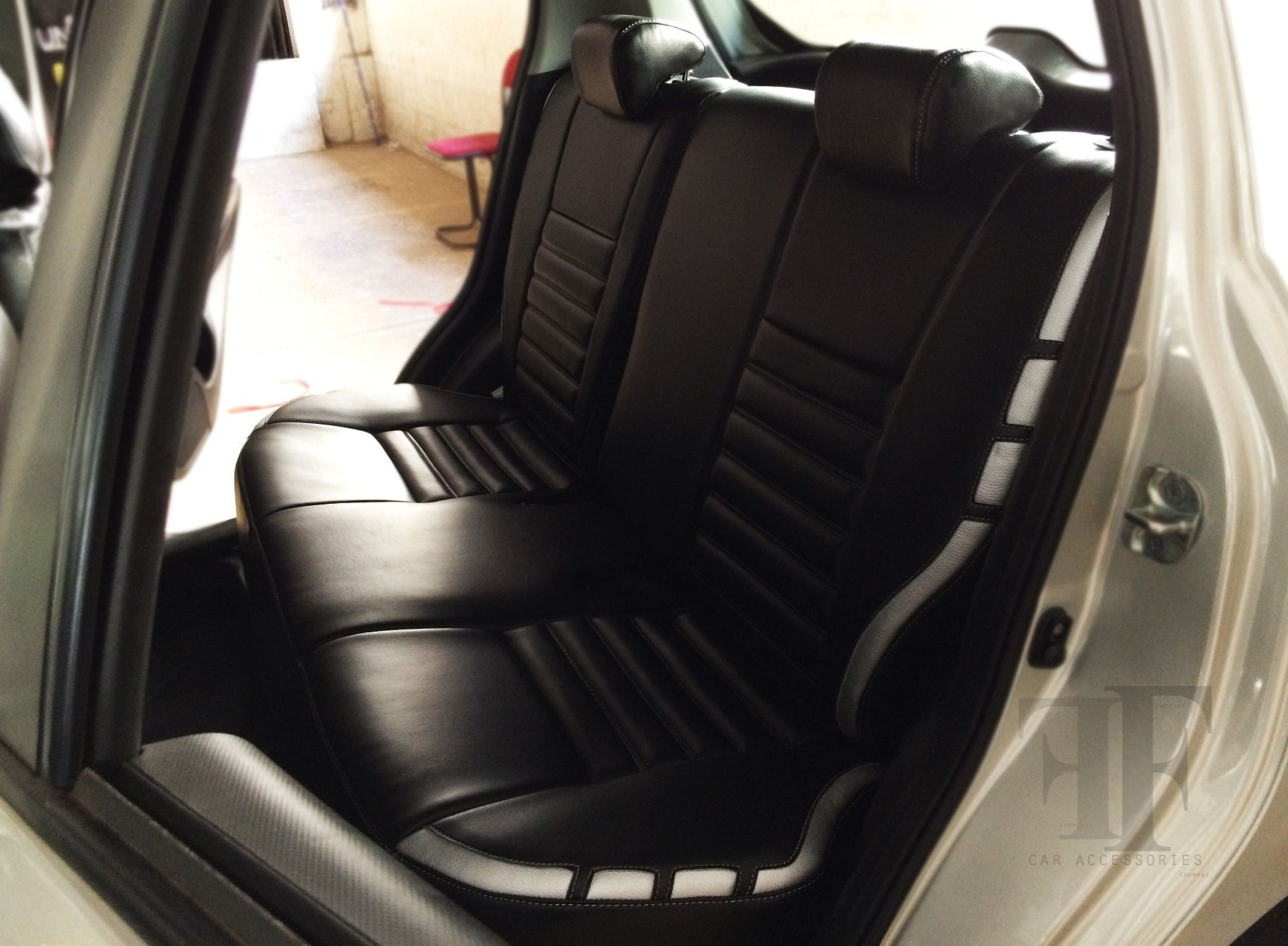 Rear Seats Of Maruti Swift After Installing The Car Seat