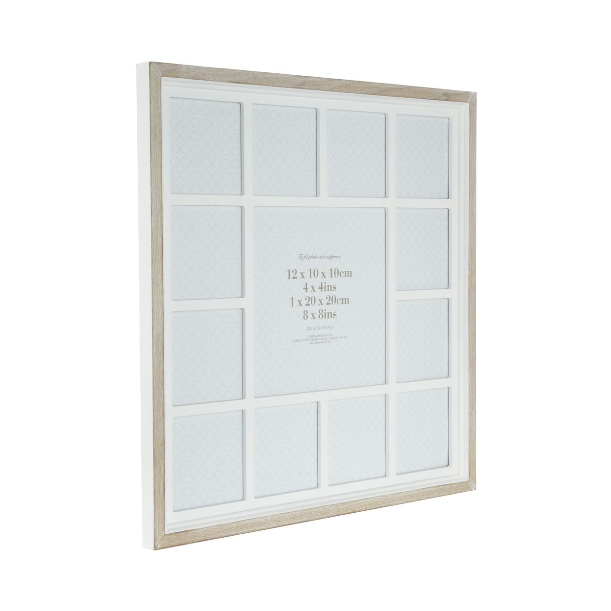 This multi photo frame from our own range comes in white with a ...