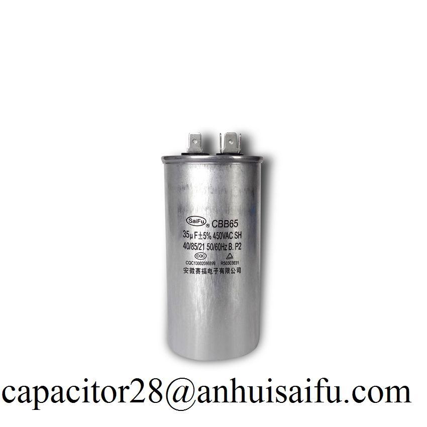 Cbb65 35uf 450vac Capacitor Capacitor Air Conditioner Capacitor Conditioner