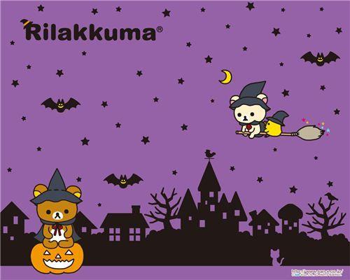 Kawaii Free Halloween Wallpapers Rilakkuma Wallpaper Kawaii Halloween Halloween Wallpaper