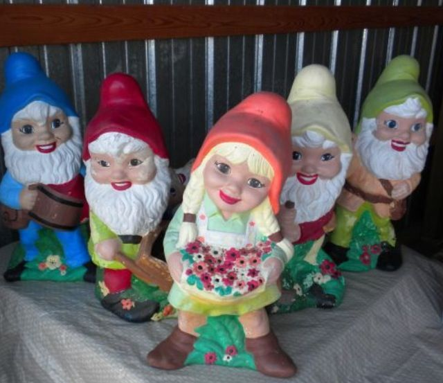 Garden Gnomes On Sale: Didn't Get To This Sale In Time Really Wanted The Girl