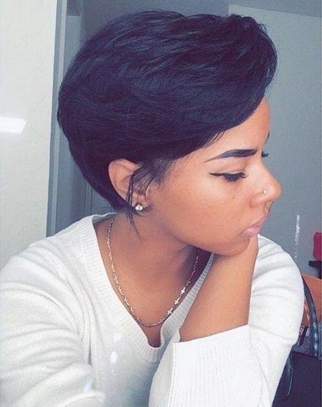 1000 Ideas About Short Black Hairstyles On Pinterest Blonde Black ...