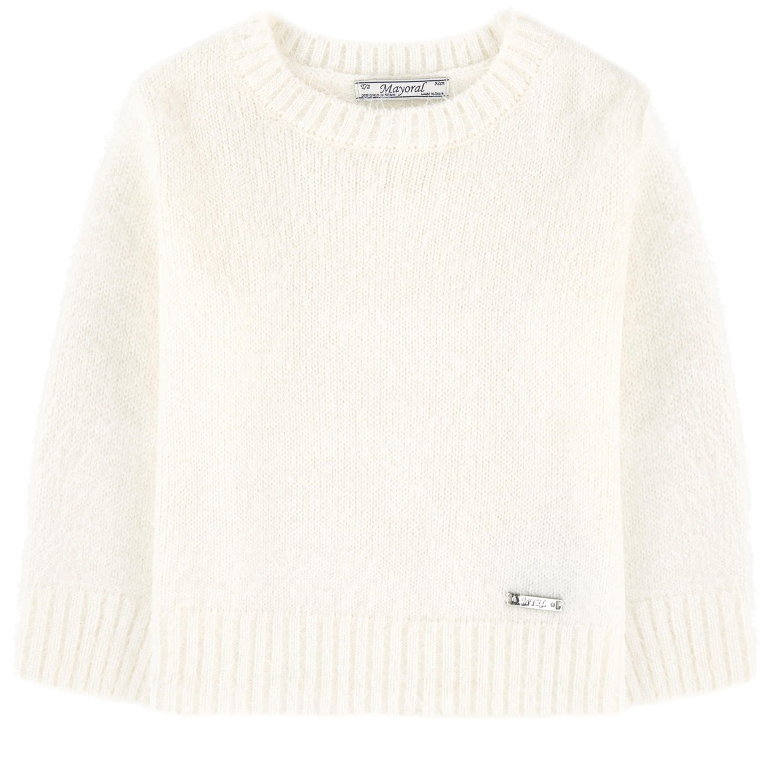 6efcba04d2d6 Fancy frothy knit Straight fit Crew neck Long sleeves Logo plate - 33.57 €