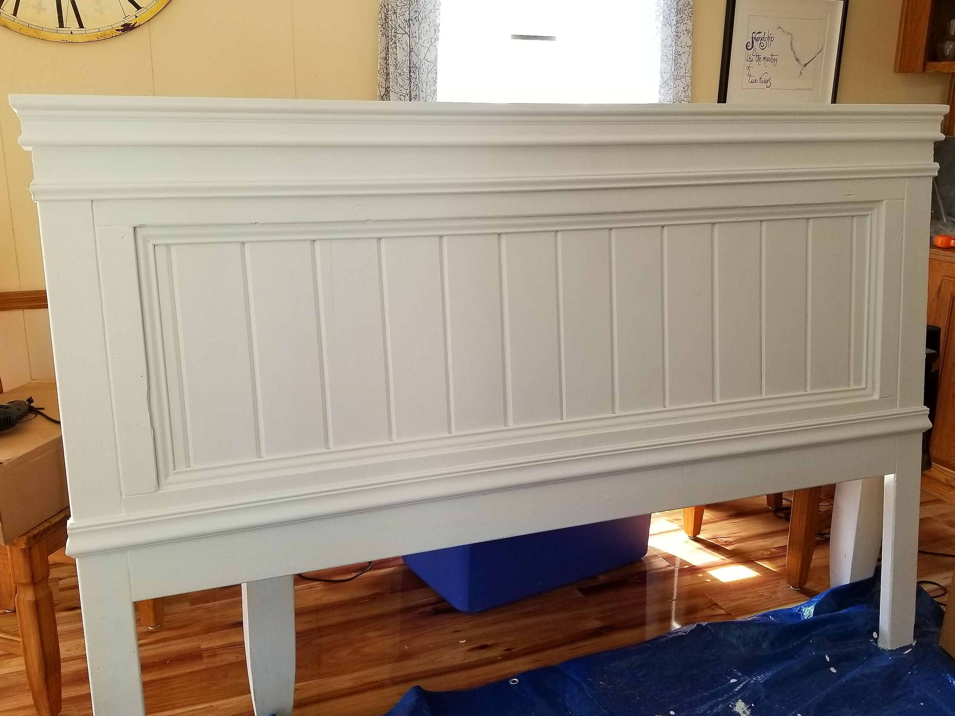 Ana White Fancy Farmhouse Headboard with Modified Trim