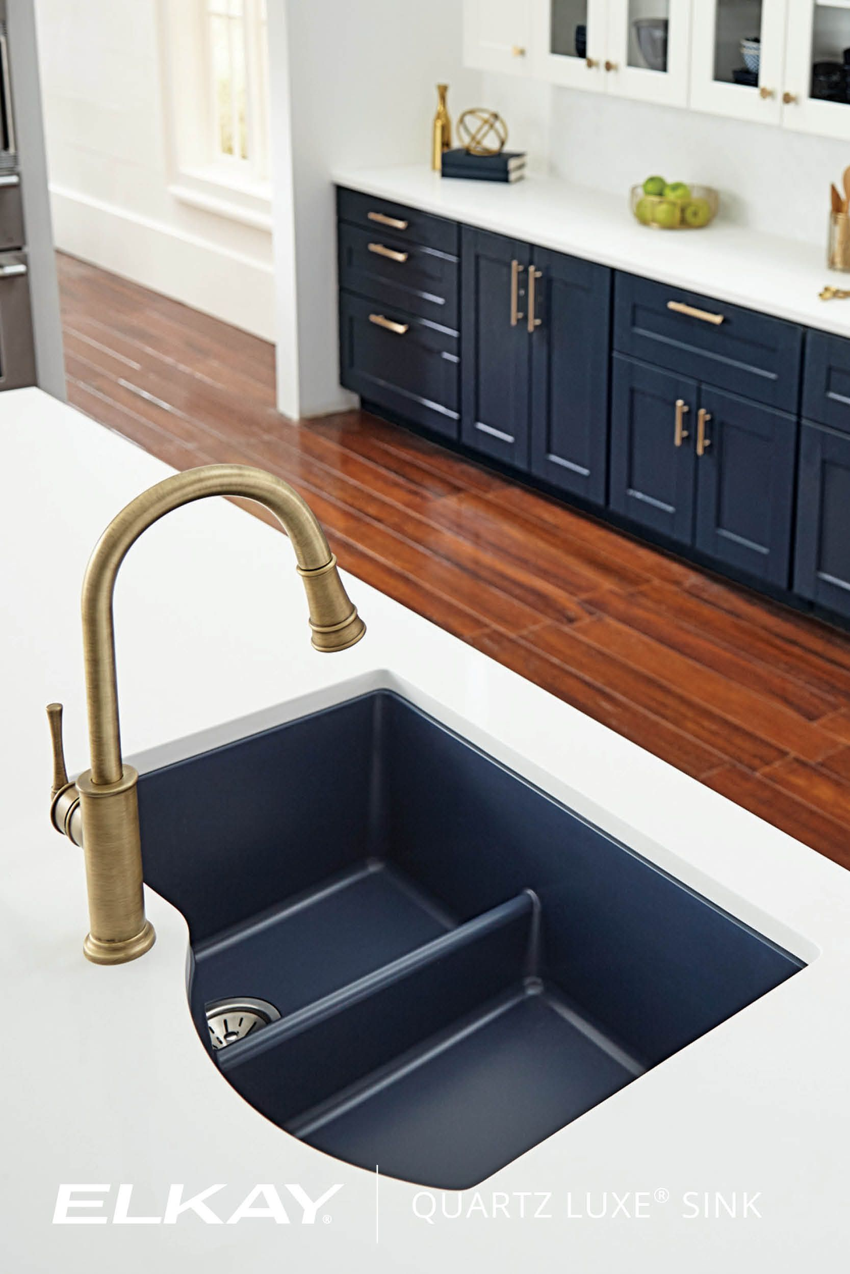 The Elkay Quartz Luxe kitchen sink in Jubilee adds statement ...