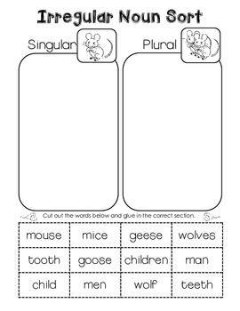plural noun freebies irregular plural nouns irregular plurals and plural nouns. Black Bedroom Furniture Sets. Home Design Ideas