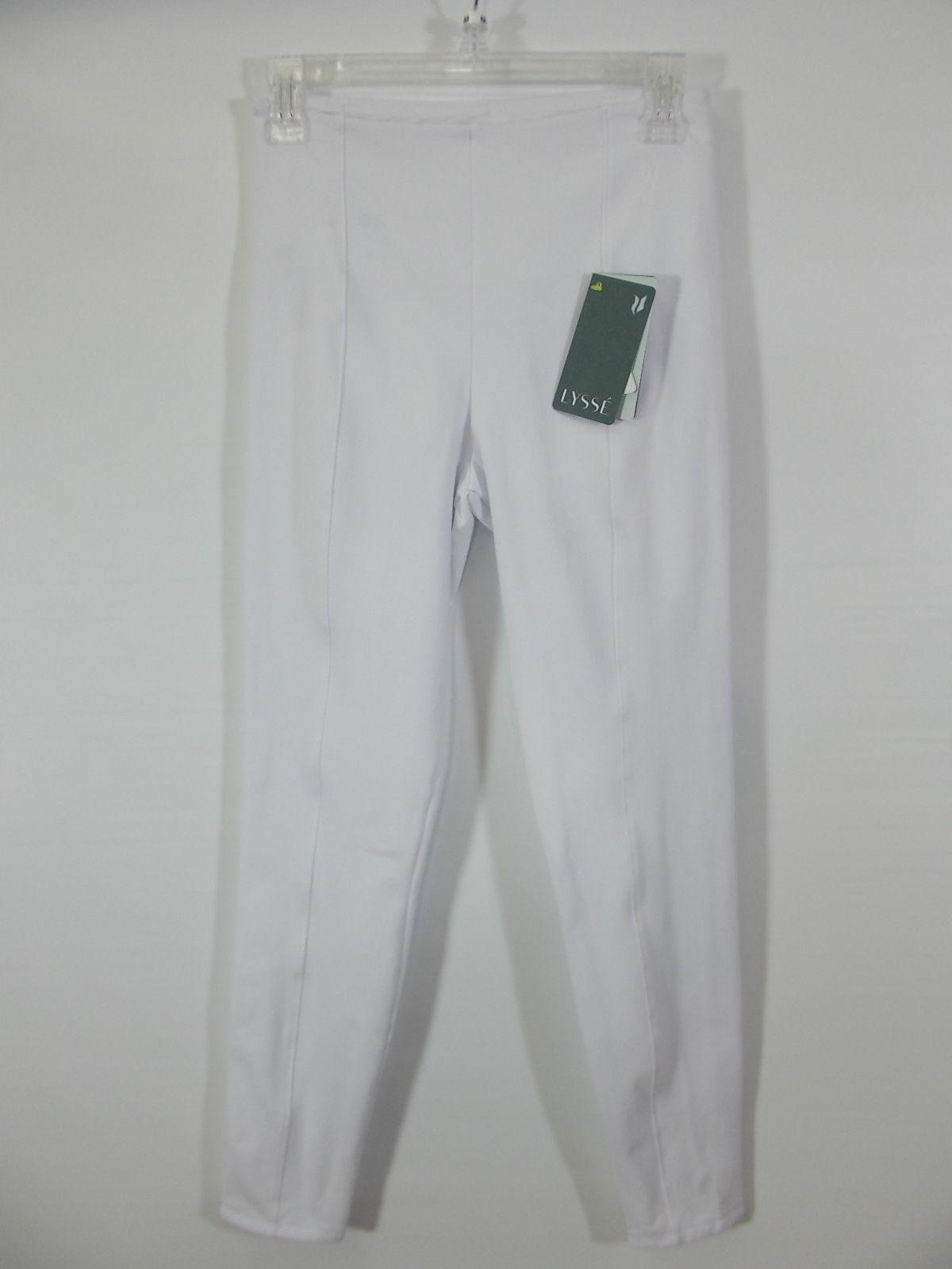 Lysse - White Front/Back Seam Clara Cotton Legging