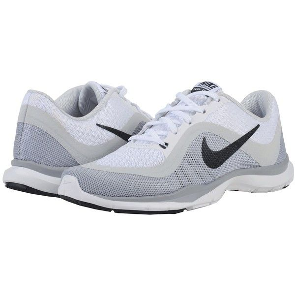 54f23bb703731 Nike Flex Trainer 6 (White Pure Platinum Wolf Grey Anthracite) Women s...  ( 70) ❤ liked on Polyvore featuring shoes
