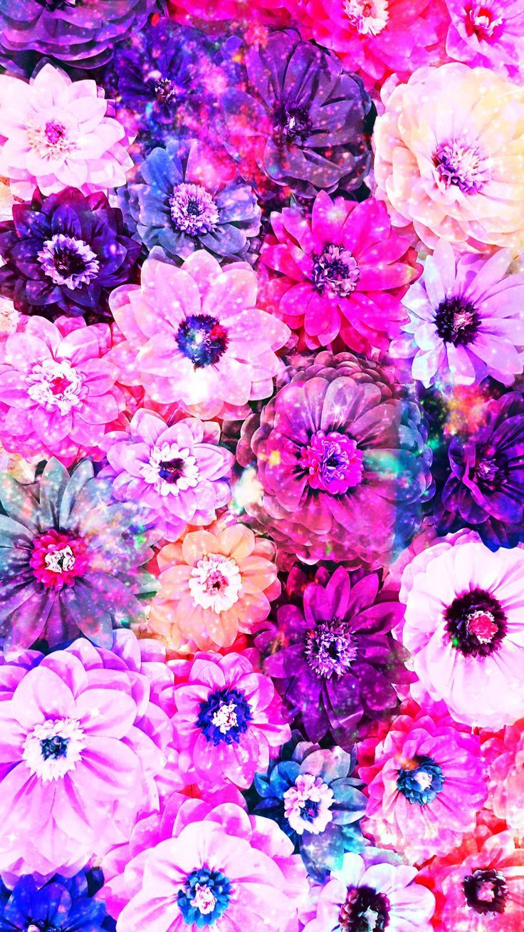 Pretty Galaxy 3D Flowers made by me drawings purple