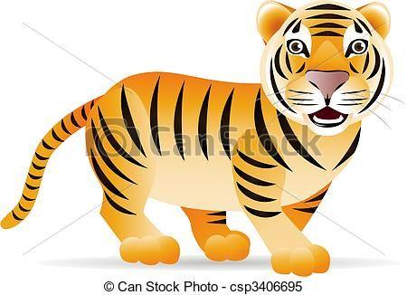 cute tiger clip art clipart vector of cute tiger csp3406695 rh pinterest com  cute tiger clipart free