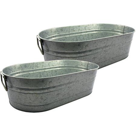 Better Homes And Gardens Set Of 2 Oval Tub Silver