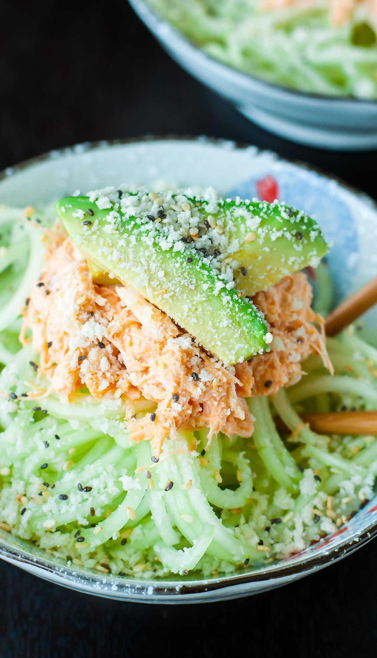 This Spicy Sriracha Crab and Cucumber Salad is refreshing and flavorful!This Japanese-inspired kani salad is my absolute favorite sushi restaurant appetizer.