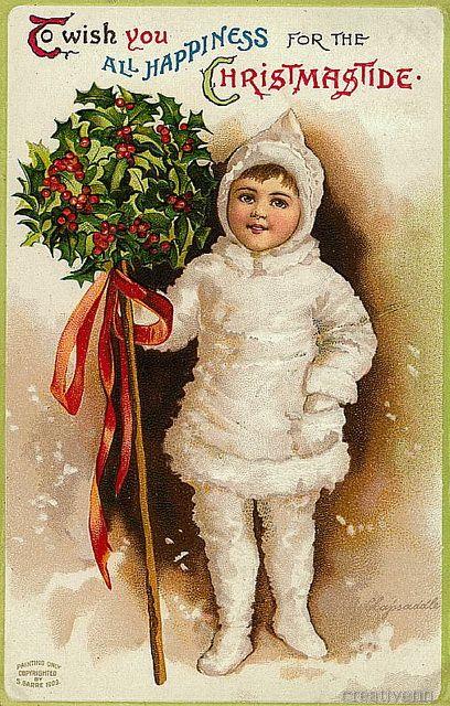 Рождественские и новогодние старинные открытки с изображением детей. Часть 2.: ♥ Creative NN. Блог Альбины Рассеиной. ♥