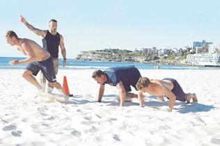 Commando Steve And Bondi Rescue S Beach Workout