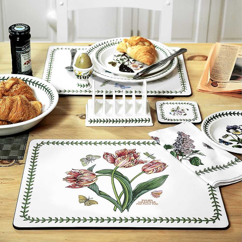 portmeirion botanic garden set of 6 placemats httpwwwportmeirion