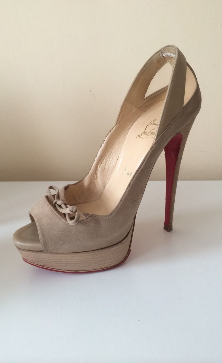 chaussures louboutin beige