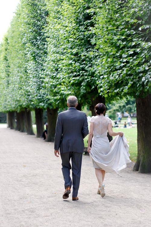 Two People In Love Having A Simple Wedding The Gardens Of Copenhagen Denmark