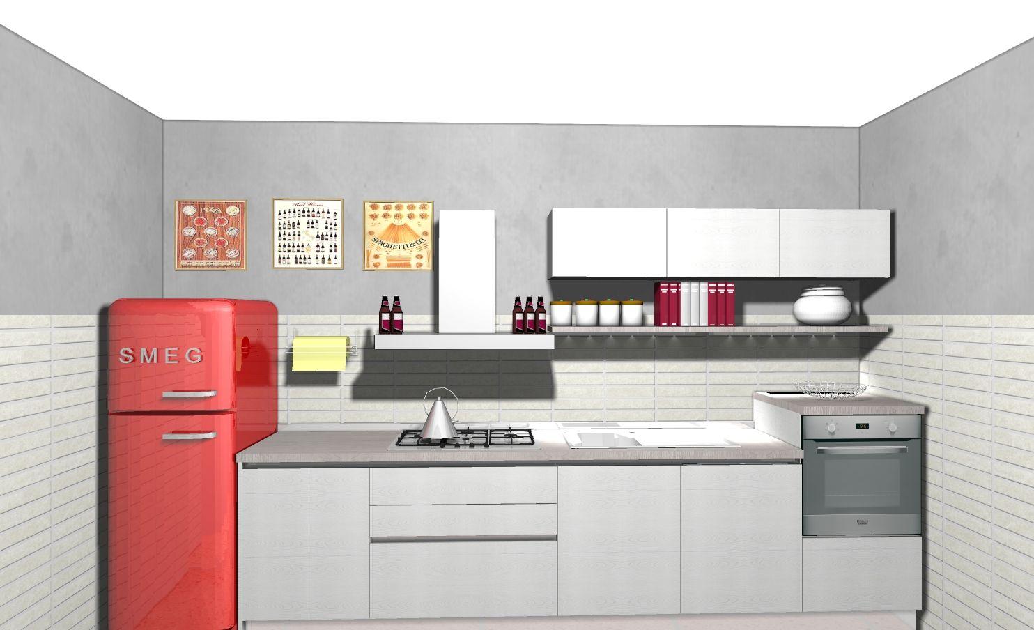 Cucina Start Time frigorifero anni 50 Smeg | cucine Domus arredi ...