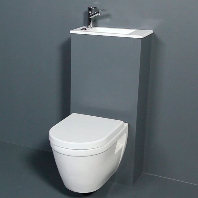 Wc suspendu castorama salle de bains pinterest toilet tiny bathrooms - Toilette noir suspendu ...